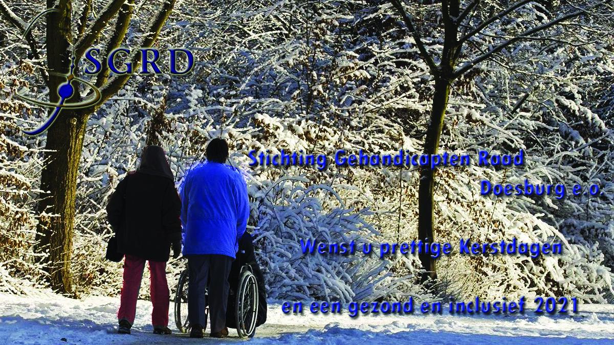 De SGRD wenst u prettige Kerstdagen en een gezond en inclusief 2021